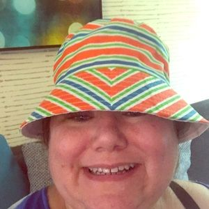 Summer hat colorful says kids but fits me